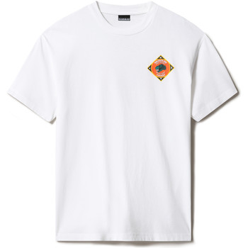 textil T-shirts Napapijri NP0A4F5M Vit
