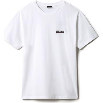 textil T-shirts Napapijri NP0A4FG8 Vit