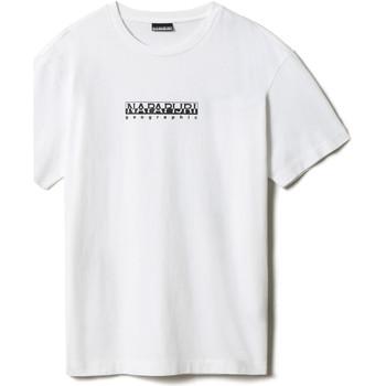 textil T-shirts Napapijri NP0A4FF5 Vit