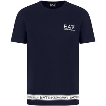textil Herr T-shirts Ea7 Emporio Armani 3KPT05 PJ03Z Blå