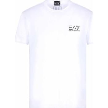 textil Herr T-shirts Ea7 Emporio Armani 3KPT06 PJ03Z Vit