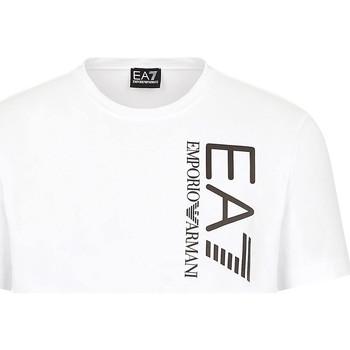textil Herr T-shirts Ea7 Emporio Armani 3KPT10 PJ7RZ Vit