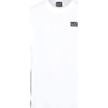 textil Herr T-shirts Ea7 Emporio Armani 3KPT13 PJ02Z Vit