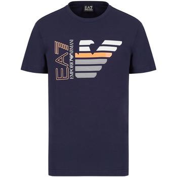 textil Herr T-shirts Ea7 Emporio Armani 3KPT22 PJ6EZ Blå