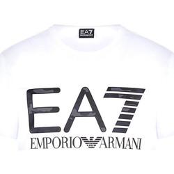 textil Herr T-shirts Ea7 Emporio Armani 3KPT27 PJ7CZ Vit