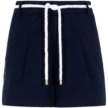 textil Dam Shorts / Bermudas Ea7 Emporio Armani 3KTS54 TN3EZ Blå
