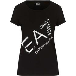 textil Dam T-shirts Ea7 Emporio Armani 3KTT28 TJ12Z Svart