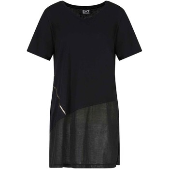 textil Dam T-shirts Ea7 Emporio Armani 3KTT36 TJ4PZ Svart
