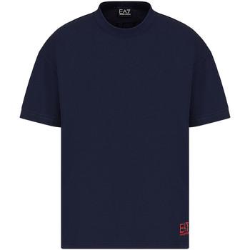 textil Herr T-shirts Ea7 Emporio Armani 3KPT58 PJ02Z Blå