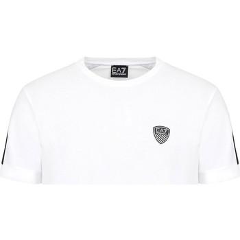 textil Herr T-shirts Ea7 Emporio Armani 3KPT56 PJ4MZ Vit