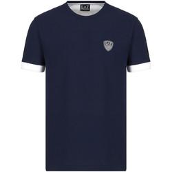 textil Herr T-shirts Ea7 Emporio Armani 3KPT56 PJ4MZ Blå