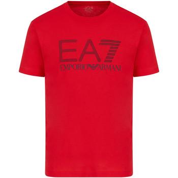 textil Herr T-shirts Ea7 Emporio Armani 3KPT81 PJM9Z Röd