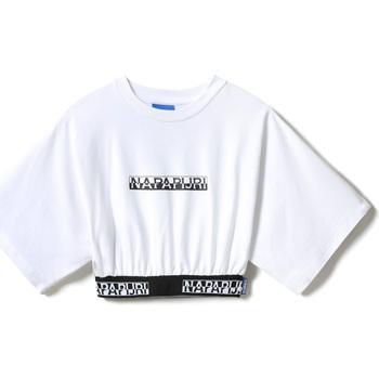 textil Dam T-shirts Napapijri NP0A4FCO Vit
