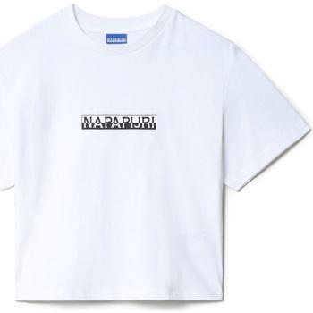 textil Dam T-shirts Napapijri NP0A4EYZ Vit