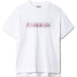 textil Dam T-shirts Napapijri NP0A4FAF Vit