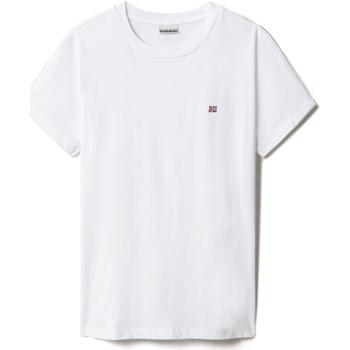 textil Dam T-shirts Napapijri NP0A4FAC Vit