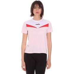 textil Dam T-shirts Diadora 102175659 Rosa
