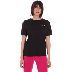 textil Dam T-shirts Diadora 102175873 Svart