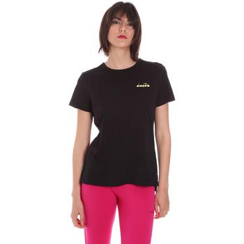textil Dam T-shirts Diadora 102175882 Svart