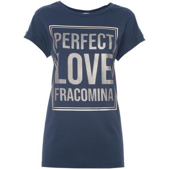 textil Dam T-shirts Fracomina FR21ST3012J40615 Blå