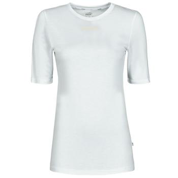 textil Dam T-shirts Puma MBASIC TEE Vit