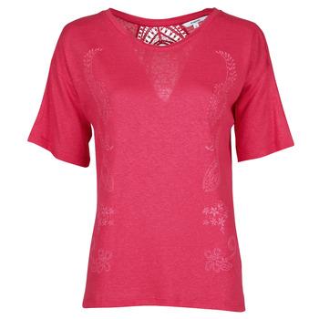 textil Dam T-shirts Desigual CLEMENTINE Röd