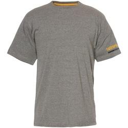 textil Herr T-shirts Caterpillar  Mörkgrå