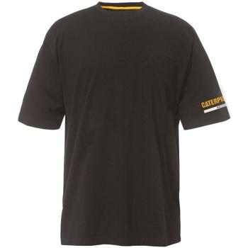 textil Herr T-shirts Caterpillar  Svart