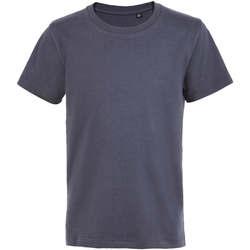 textil Barn T-shirts Sols Camiseta de niño con cuello redondo Gris