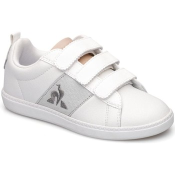 Skor Flickor Sneakers Le Coq Sportif Chaussures fille  courtclassic blanc/gris