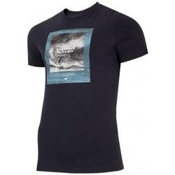 textil Herr T-shirts 4F TSM028 Svarta