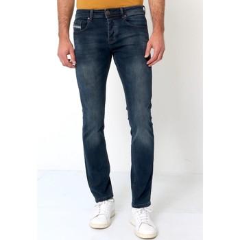 textil Herr Stuprörsjeans True Rise Jeans Byxor A Bla Blå