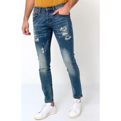 textil Herr Stuprörsjeans True Rise Jeans D Bla Blå