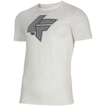 textil Herr T-shirts 4F TSM010 Vit
