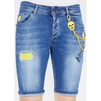 textil Herr Shorts / Bermudas Local Fanatic Jeansshorts Bla Blå
