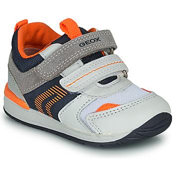 Skor Pojkar Sneakers Geox B RISHON Vit