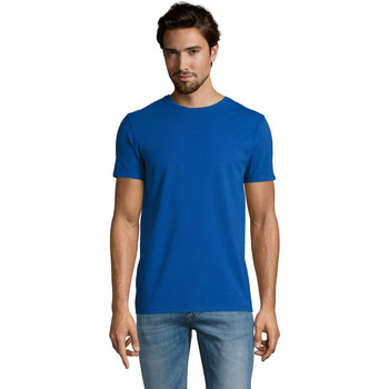 textil Herr T-shirts Sols Camiserta de hombre de cuello redondo Azul