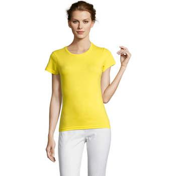 textil Dam T-shirts Sols Miss camiseta manga corta mujer Amarillo