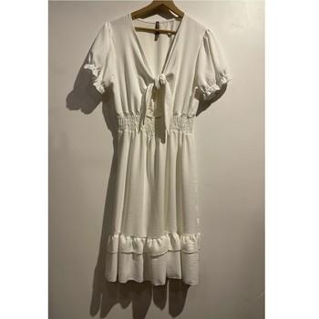 textil Dam Korta klänningar Fashion brands 9176-BLANC Vit