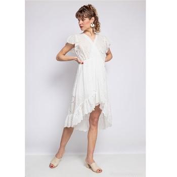 textil Dam Korta klänningar Fashion brands U5233-BLANC Vit