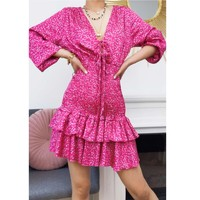 textil Dam Korta klänningar Fashion brands 22974-FUSHIA Fuchsia