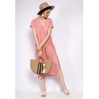 textil Dam Korta klänningar Fashion brands 6658-CORAIL Korall
