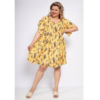 textil Dam Korta klänningar Fashion brands DIABOLE-COLOR-ONE-JAUNE Gul