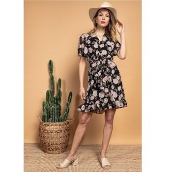 textil Dam Korta klänningar Fashion brands 2145A-NOIR Svart