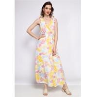 textil Dam Långklänningar Fashion brands R185-JAUNE Gul