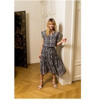 textil Dam Blusar Fashion brands CK08138-MARINE Marin
