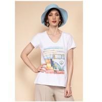 textil Dam Blusar Fashion brands 8301-COMBI-SKY-BLUE Blå