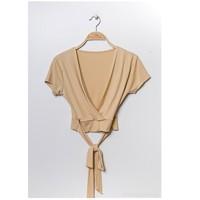 textil Dam Blusar Fashion brands FR029T-BEIGE Beige