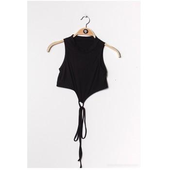 textil Dam Blusar Fashion brands FR070-BLACK Svart