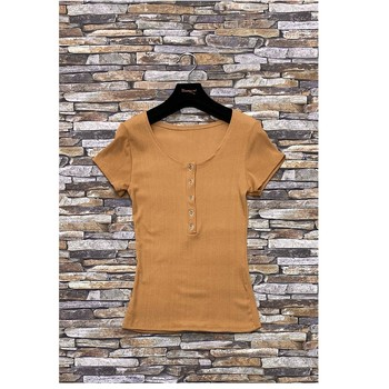 textil Dam Blusar Fashion brands HS-2863-BROWN Brun
